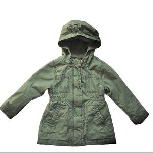 Old Navy Hooded Twill Utility Scout Jacket Olive 2
